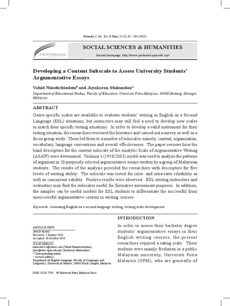 Argumentative essay mass media