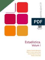 Estadística. Volumen I