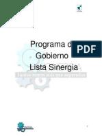 Programa Lista SINERGIA CEIND UTEM 2012