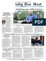 The Daily Tar Heel for October 25, 2013