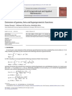 Extension of Gamma, Beta and Hypergeometric Functions