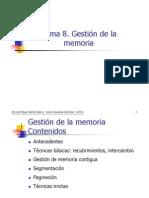 Gestion de M e m o Ria, Sistema Operativos