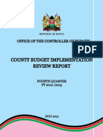 County Budget Implementation Report for March-June 2013