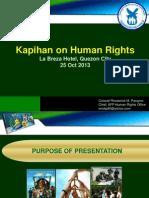 Presentasyon ng Sandatahang Lakas ng Pilipinas (AFP) sa Kapihan sa Karapatang Pantao 2013