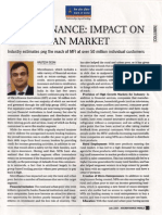 MicroFinance - Impact on the Indian Market by Kalpesh Desai in The Financial Express - Micro Finance World July 09