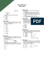 SMA - Fisika 2005-Www.examsworld.us