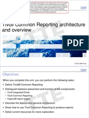 Tivoli Common Reporting 2 1 1 Fundamentals pdf   Oracle