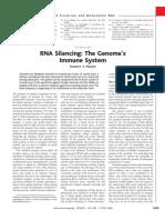 RNA Silencing The GenomeÕs