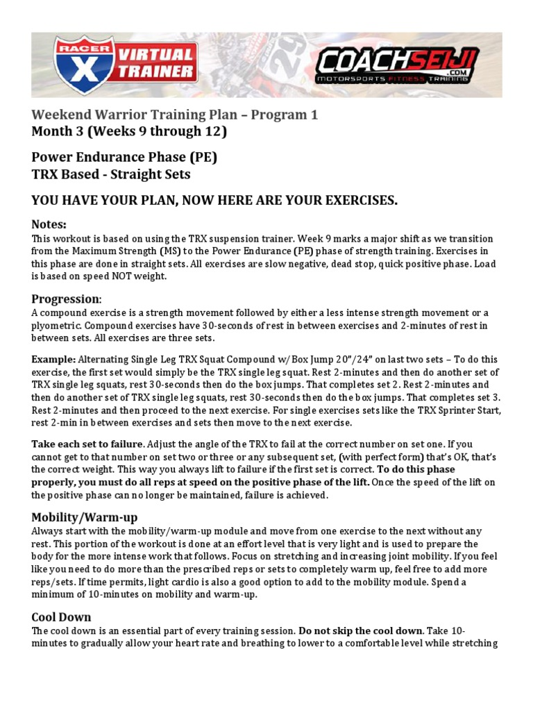 Weekendwarriorp1m3trxpdf sports physical exercise fandeluxe Images