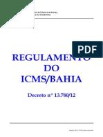 Ricms Ba - Decreto 13780-2012