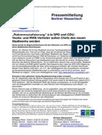 Pressemitteilung vom Berliner Wassertisch vom 24. Oktober 2013