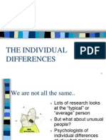 Individual Differences Approach Lecture