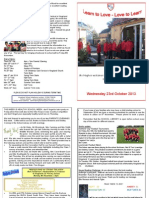 Newsletter Tuesday 22 October