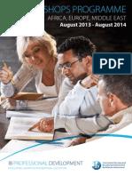 brochure of workshops programmes 2013-2014