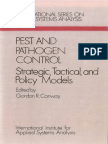 PEST AND PATHOGEN CONTROL Strategic,Tactical, andPolicy Modes