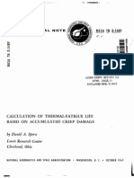 Calculation of Thermal-fatigue Life Based on Accumulated Creep Damage