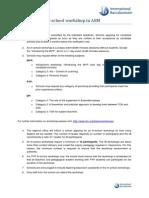 guidelines for in-school workshops