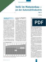 Giesstechnik Im Motorenbau Anforderungen Der Automobilindustrie Teil2