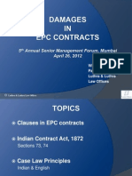 Damages in Contracts 25-04-2013 EPC Workshop WVJ