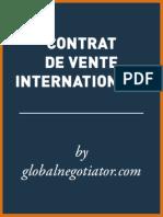 CONTRAT DE VENTE INTERNATIONALE