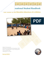 Peace Corps Masters International Student Handbook 2013