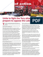 Unite to fight the Tory attacks, prepare to oppose the Labour right