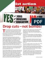Drop cuts - not bombs!