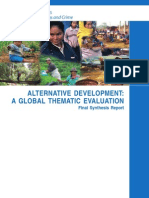 Alternative development - Global Evaluation