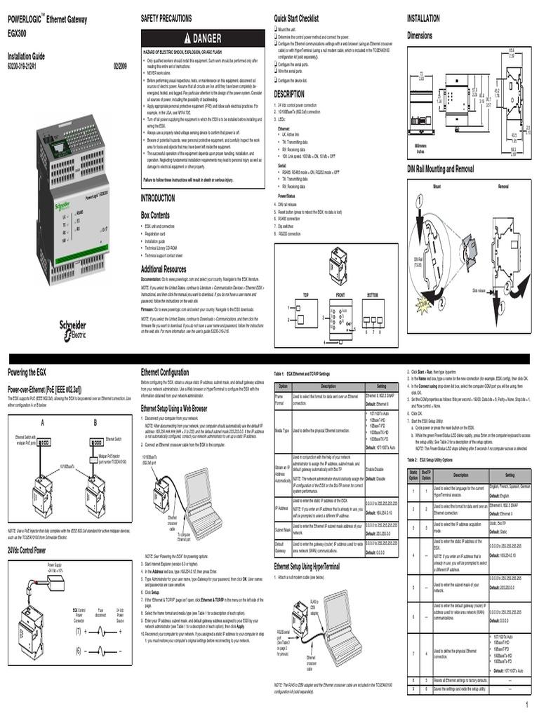 Danger: Powerlogic Ethernet Gateway EGX300