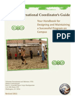 Master's International Coordinator's Guide