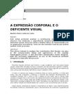 Expressão Corporal e o Deficiente Visual