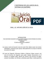 Habilidades y Destrezas de Los Jueces en El Sistema Acusatorio