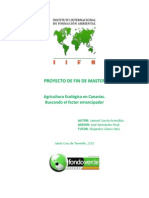 Agricultura Ecológica en Canarias. Buscando el factor emancipador