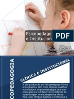 Pós-graduação em Psicopedagogia Clínica e Institucional - Grupo Educa+ EAD