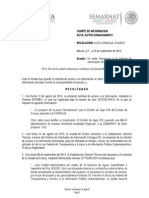 Resolucion IFAI Presa Bicentenario, Sonora