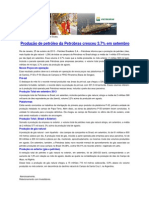 Petrobras - Relatório de produção - setembro 2013