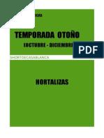 FICHAS TECNICAS HORTALIZAS Y LEGUMBRES  OTOÑO