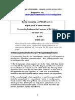 O Relatório Beveridge 1942- Seguro social e serviços afins.