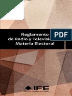 Reglamento Radio y TV Materia Electoral