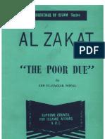 The Poor Due (Al Zakat)