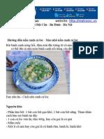 Hướng dẫn nấu canh cá lóc