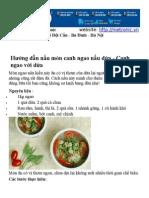 Hướng dẫn nấu món canh ngao nấu dứa
