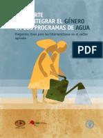Pasaporte para integrar el género en los programas de agua
