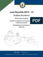 Analisis Numerico Syllabus