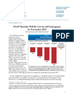SNAP Benefits Will Be Cut for All Participants in November 2013