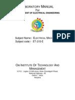 Electrical Machine-1 Manual.pdf
