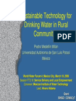 Sustainable Technology for Drinking Water in Rural Communities