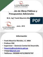 Supervisión de Obras Públicas y Presupuestos Adicionales.ppt