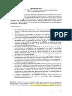 Declaración de Quito mujeres compesinas 27 sept 2013