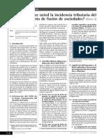 Insidencia Tributaria de Fusion de Sociedades